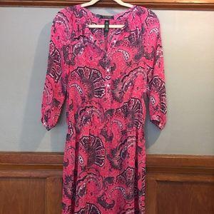 Lauren Ralph Lauren Sheer Print Dress